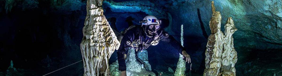 guided cave diving and support